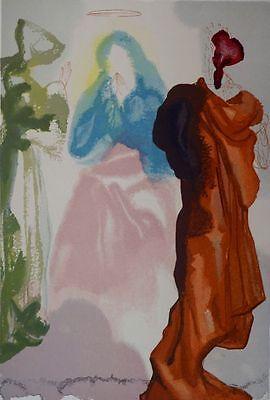 Salvador Dali, Divine Comedy Original Wood Engraving, Paradise / Heaven Canto 33