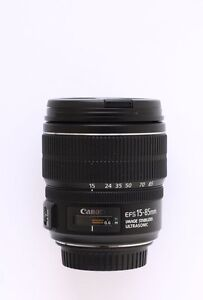 mint canon EF S 15 85 IS USM zoom lens