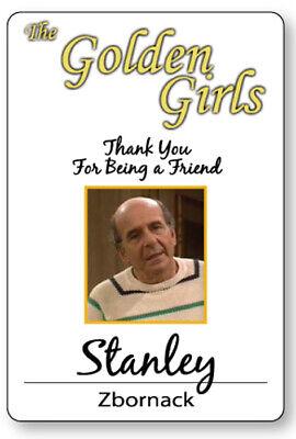 STANLEY ZBORNACK THE GOLDEN GIRLS HALLOWEEN COSPLAY PROP NAME BADGE MAGNET BACK](Stanley Halloween)