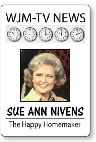 SUE ANN NIVENS MARY TYLER MOORE SHOW NAME BADGE HALLOWEEN COSPLAY MAGNET BACK