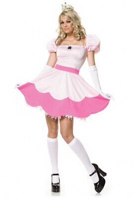 Mario Halloween Costume Women (Brand New Sexy Peach Princess Super Mario Adult Halloween)