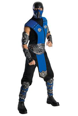 Mortal Kombat Sub-Zero Ninja Adult Halloween Costume (Sub Zero Halloween Costume)