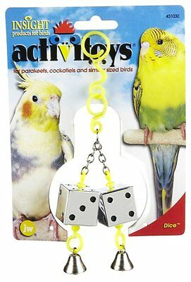 JW PET BIRD TOY ACTIVITOY DICE PARAKEET COCKATIEL CANARY. FREE SHIP IN THE USA