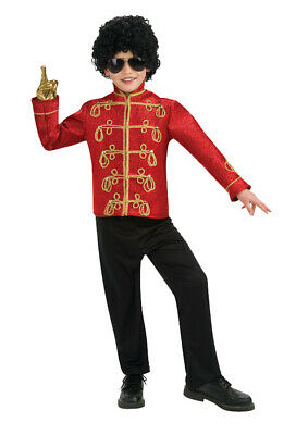 Brand New Michael Jackson Deluxe Red Military Jacket Child Halloween - Michael Jackson Halloween Costume Kids