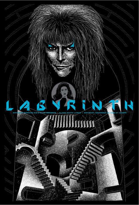 Todd Slater Labyrinth Screen Print AP
