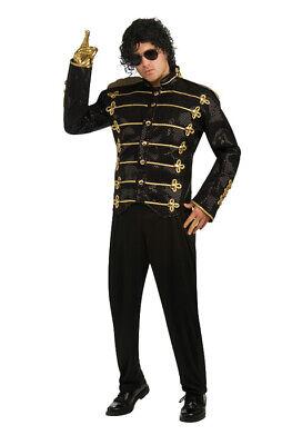 Brand New Michael Jackson Deluxe Black Military Jacket Adult Halloween Costume