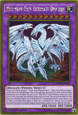 Neo Blue-Eyes Ultimate Dragon - MVP1-ENG01 - Gold Rare - 1st Edition x1
