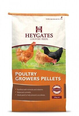 Heygates Country Poultry Grower Pellets with coccidiostat 20kg
