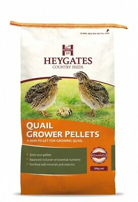 Heygates Country Feeds Quail & Partridge Grower Pellets Feed 20kg