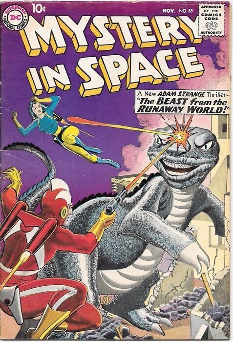 Mystery In Space Comic Book #55, DC Comics 1959 FINE-