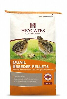 Heygates Country Feeds Quail & Partridge Breeder / Layers Pellets Feed 20kg