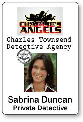 Charlies Angels Halloween Costume (SABRINA DUNCAN CHARLIE'S ANGELS NAME BADGE TAG HALLOWEEN COSPLAY PIN)