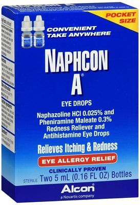 Allergy Relief Eye Drops (Naphcon A Eye Drops for Eye Allergy Relief Two 5 mL Bottles )