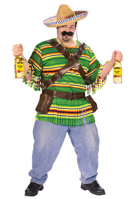 Brand New Fiesta Tequila Pop 'N' Dude Plus Size Halloween Costume