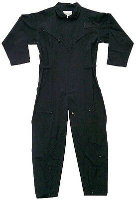 Flightsuit Black Usaf Style Coverall Rothco 7502 (army Bd...