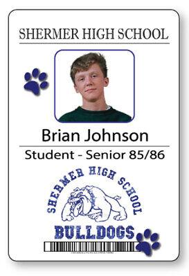 BRIAN JOHNSON BREAKFAST CLUB NAME BADGE & BUTTON HALLOWEEN COSPLAY PIN BACK