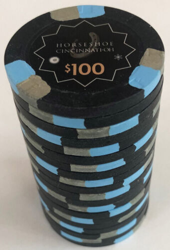 (20) $100 HORSESHOE CASINO CINCINNATI PAULSON POKER CHIPS