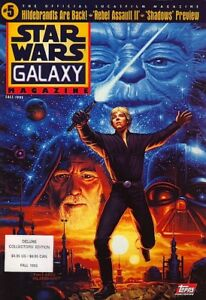 STAR WARS GALAXY MAGAZINE #5 & #6 (1994) + 2 POSTERS AND CARDS