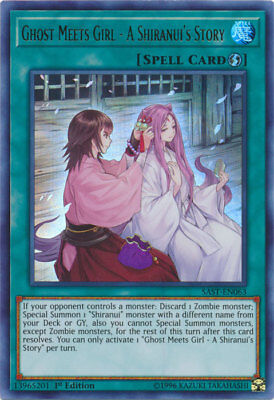 x1 Ghost Meets Girl - A Shiranui's Story - SAST-EN063 - Ultra Rare - 1st Edition - Girl Ghost