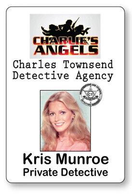 KRIS MUNROE CHARLIE'S ANGELS NAME BADGE TAG HALLOWEEN COSPLAY PIN - Halloween Charlie's Angels