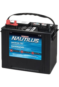 12V DEEP CYCLE MARINE BATTERY - 1 YEAR OLD - WELL MAINTAINED
