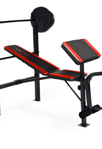 Cap Barbell Bench with 100-lb Weight Set