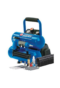 Twin Stack Mini Cambell Hausfeld Compresser Nailer & Tire Inflat