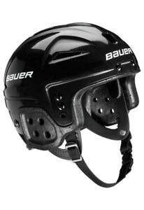 BAUER Lil' Sports Hockey Helmet & Wire Cage - Black [age 2 to 5]