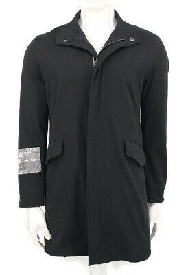 424 On Fairfax Jacket Mens Small Black Zip Front Coordinates Latitude Longitude