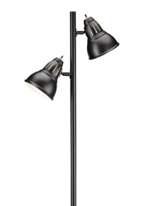(Reduced to sell) Two-headed Black Floor Lamp.