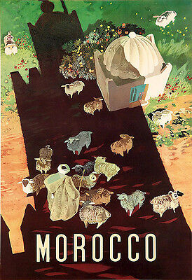 Art Ad MOROCCO Travel Deco  Poster Print
