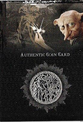 Harry Potter Memorable Moments Box Topper Card Münze CC1 Chamber of Secrets