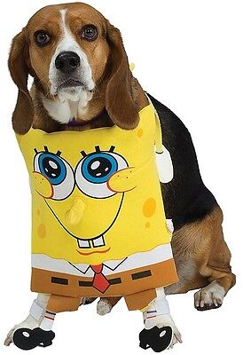 Haustier Hund Katze Spongebob Schwammkopf Halloween Kleidung Kostüm Kleid Outfit ()