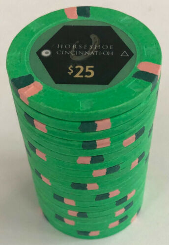 (20) $25 HORSESHOE CASINO CINCINNATI PAULSON POKER CHIPS