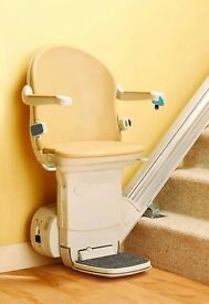 """Stairlift Minivator Handicare, Left Hand Side 14 Steps - 157"""" inch Straight Stair Lift - Hinge track"""
