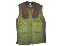 Size S BARBOUR green hip length countryside riding shooting quilted gillet waistcoat