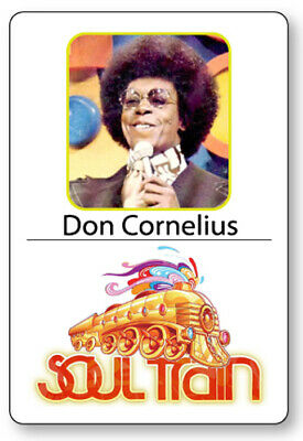 DON CORNELIUS SOUL TRAIN HOST NAME BADGE TAG HALLOWEEN COSPLAY MAGNET - Soul Train Costumes