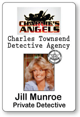Charlies Angels Halloween Costume (JILL MUNROE CHARLIE'S ANGELS NAME BADGE TAG HALLOWEEN COSPLAY PIN)