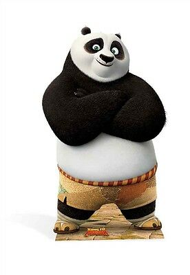 Po Ping Kung Fu Panda Cardboard Cutout Stand Up Standee Great for Kids Parties - Halloween Cutouts For Kids