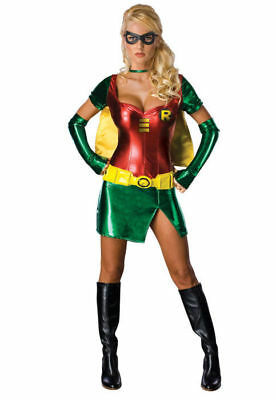 Teen Titans Go! Women's Sexy Robin Halloween Cosplay Costume 6-10 Medium - Robin Teen Titans Kostüm
