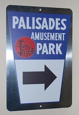 Palisades Amusement Park Metal Street Sign