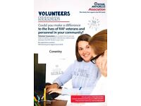 Volunteer Caseworkers required in the West Midlands / Coventry for the RAF Association