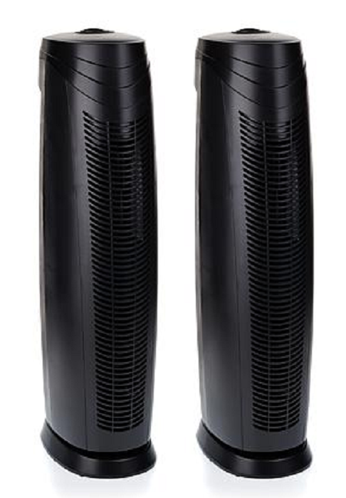 Hunter 2-pack Large HEPAtech Air Purifiers with ViroSilver Pre-Filter,Black,$300