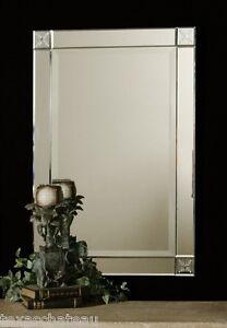 31 034 Mirror Framed Beveled Glass Frameless Wall