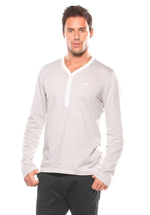 Our RedHead® Thermal Henley Shirt for men is made from a prewashed 60% cotton/40% polyester blend that is soft, comfortable, and warm. This long-sleeve men's henley from RedHead has a waffle texture, a sturdy rib-knit collar and cuffs, a 3-button placket, and a split-tail straight hem/5(79).