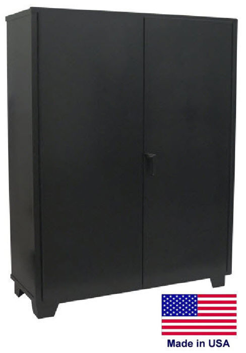 Storage Cabinet Commercial/indl - 12 Gauge Steel - 5 Shelves - Black - 78x60x24