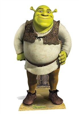 Shrek from Dreamworks Green Ogre Cardboard Cutout Stand Up Great for Party Fun