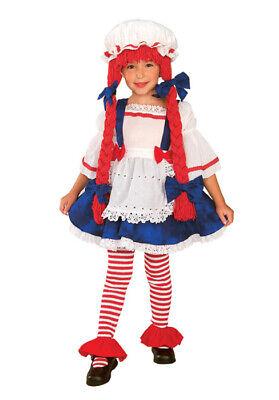Baby Rag Doll Halloween Costume (Brand New Rag Doll Girl Toddler/Child Halloween)