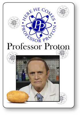 PROFESSOR PROTON THE BIG BANG THEORY NAME BADGE HALLOWEEN COSPLAY MAGNET BACK - Big Bang Theory Halloween