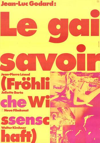 LE GAI SAVOIR German A1 movie poster JEAN-LUC GODARD HANS HILLMANN 1969 NM